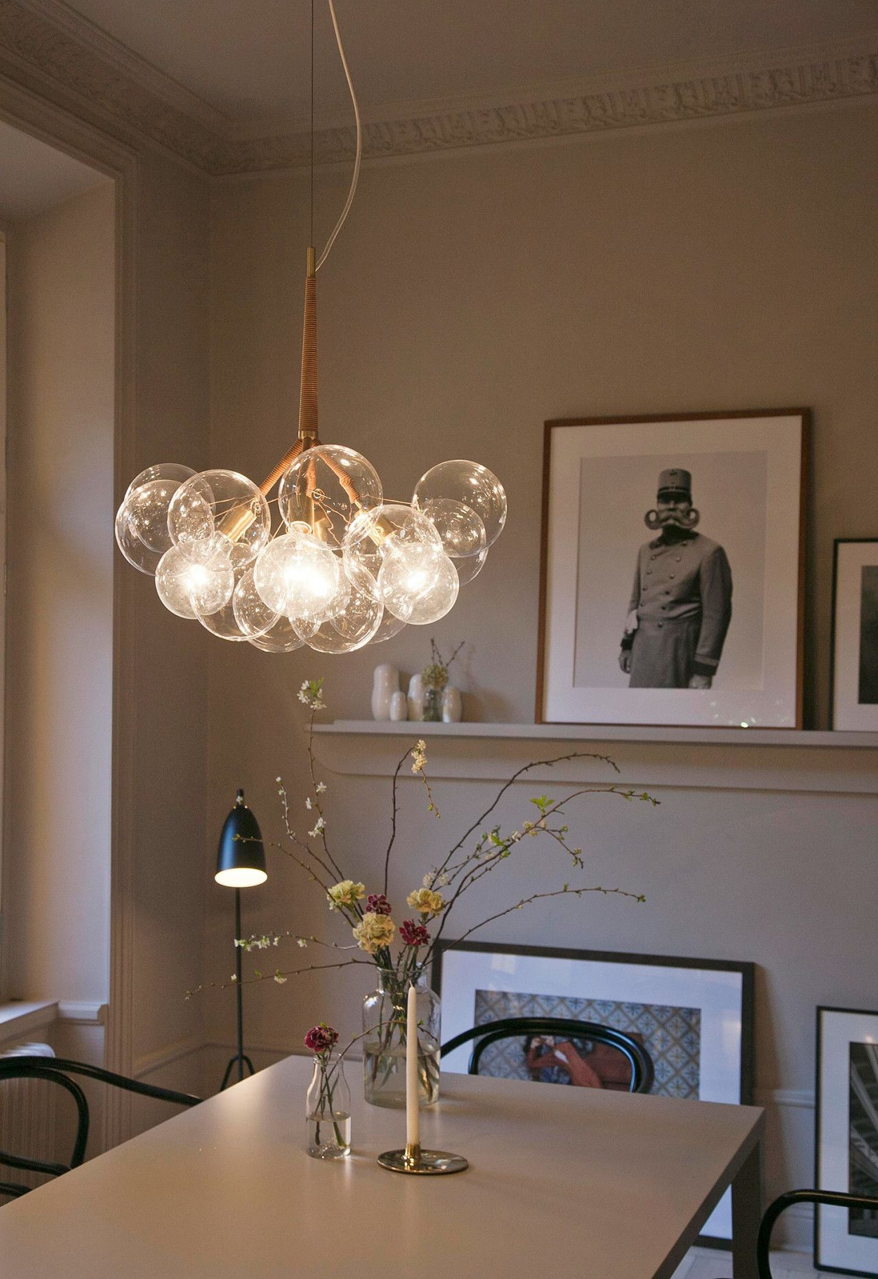 Bubble Blown Glass Pendant Chandelier   Artisan Crafted Home