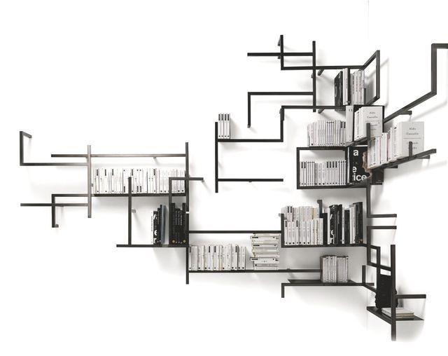 shopping 9 biblioth ques design tendance m tal bross. Black Bedroom Furniture Sets. Home Design Ideas