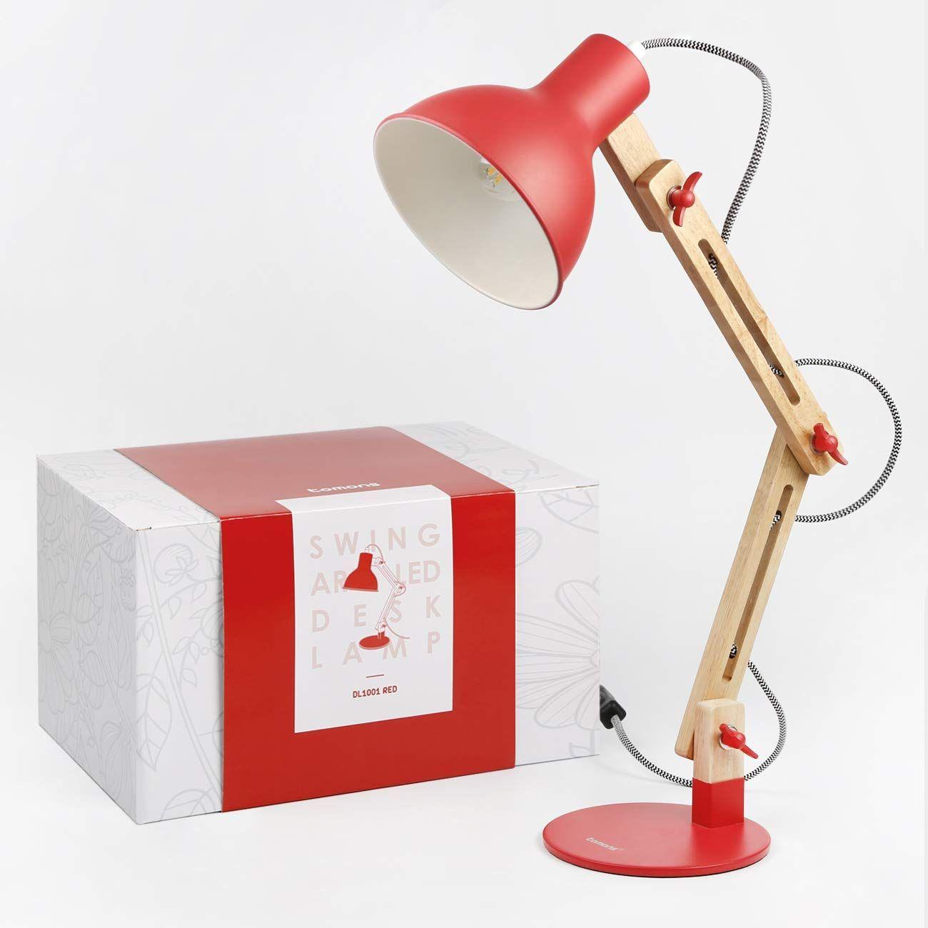 Tomons Led Leselampe Im Klassichen Holz Design Retro Schreibtischlampe Kinder Led Tischleuchte Verstellbare Verstellba Schreibtischlampe Led Leselampe Lampe
