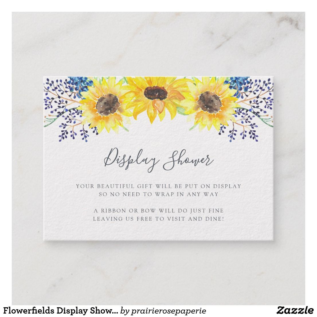 baee597b6797 Flowerfields Display Shower Card Slip these petite cards into your baby  shower or bridal shower invitations when requesting that guests bring their  gifts ...