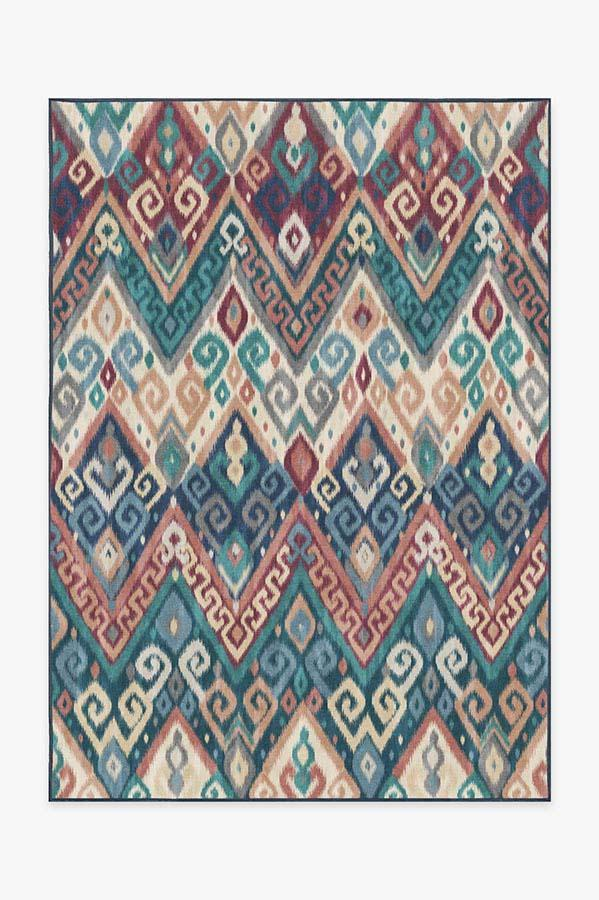 Ruggable Washable Rug Cover Pad Orissa Sapphire Rug Stain