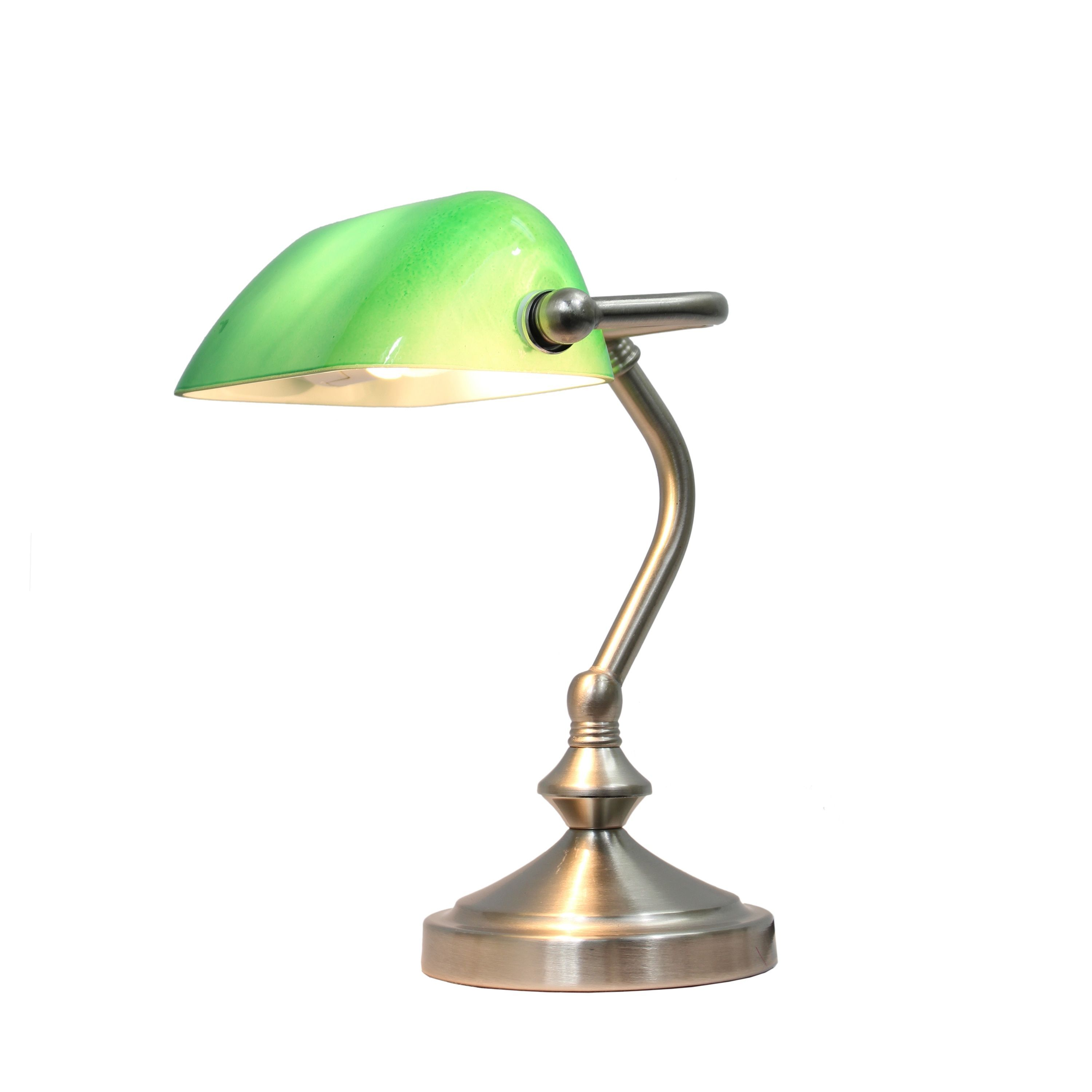 Simple Designs Traditional Mini Banker S Lamp With Gl
