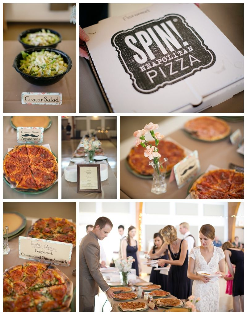 Pizza Buffet At Wedding Wedding Catered By Spin Pizza Kansas City