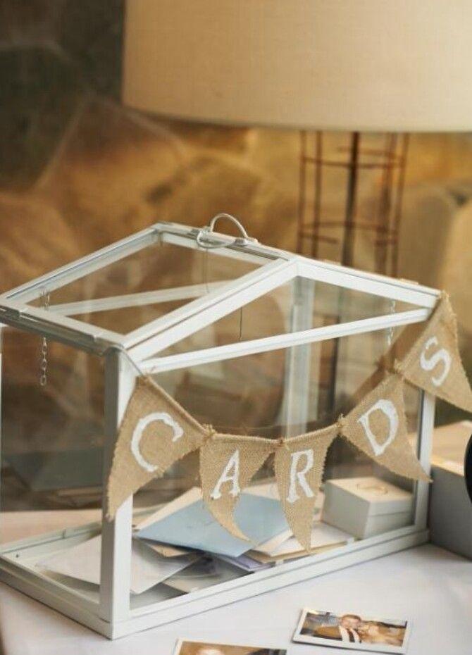 Kartenbox Hochzeit Glas.Card Box Ikea Greenhouse Paint The White Frame Bronze