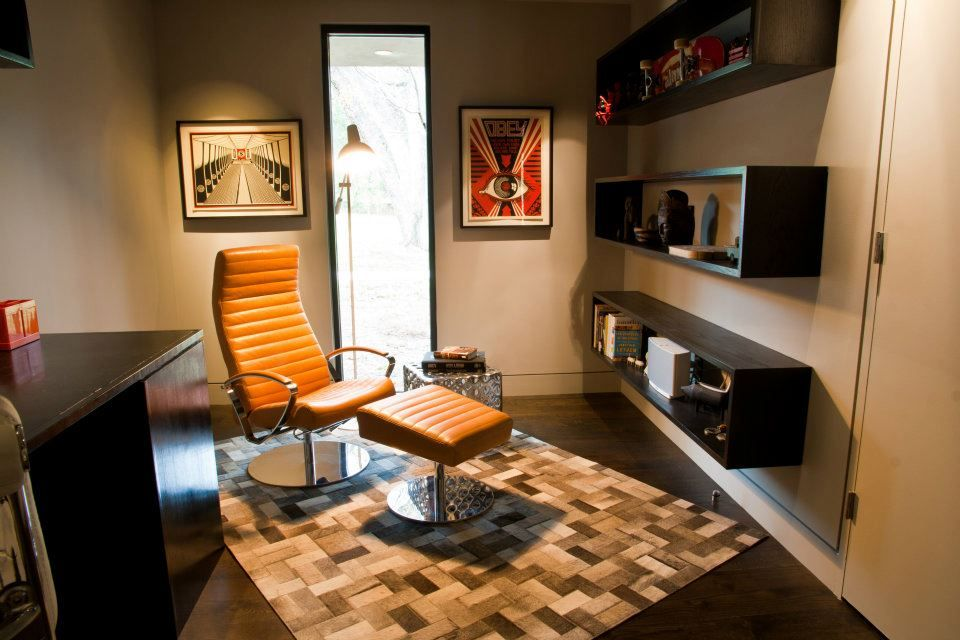 Boconcept Wing Chair In Light Brown Salvador Leather Sakka Rug Bistro Floor Lamp