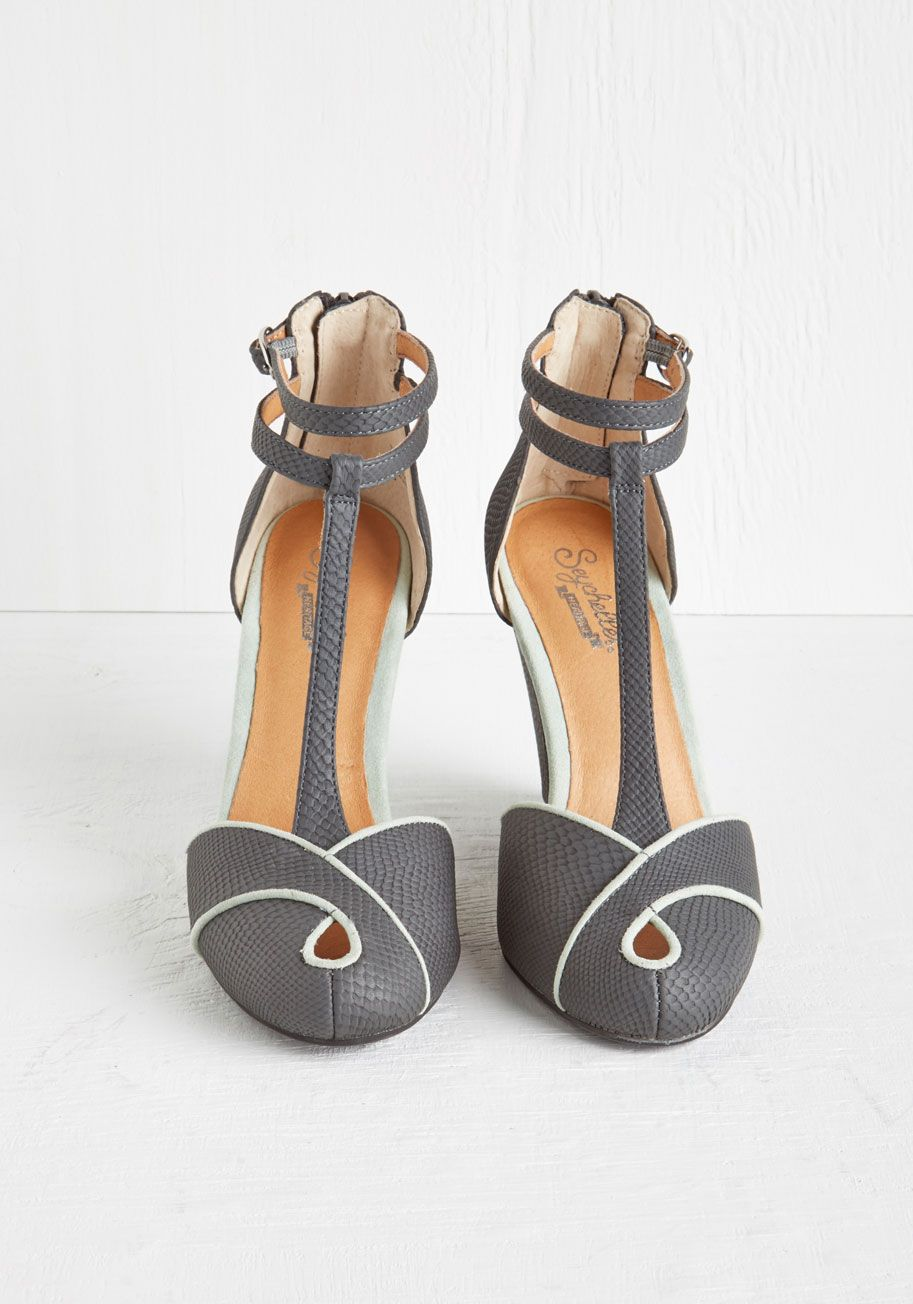 d311e6fa7 Catch a Glimpse Wedge in Scales. Your ensemble today is a truly a must-see  - starting with these striking grey wedges by Seychelles.