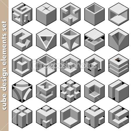 Design De Logo De Cube 3d Pack Illustration 14125797 Cubes