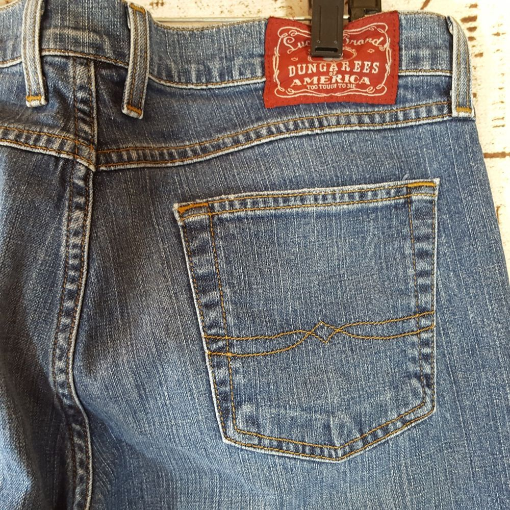 Lucky brand mens size 32 jeans mid rise flare regular