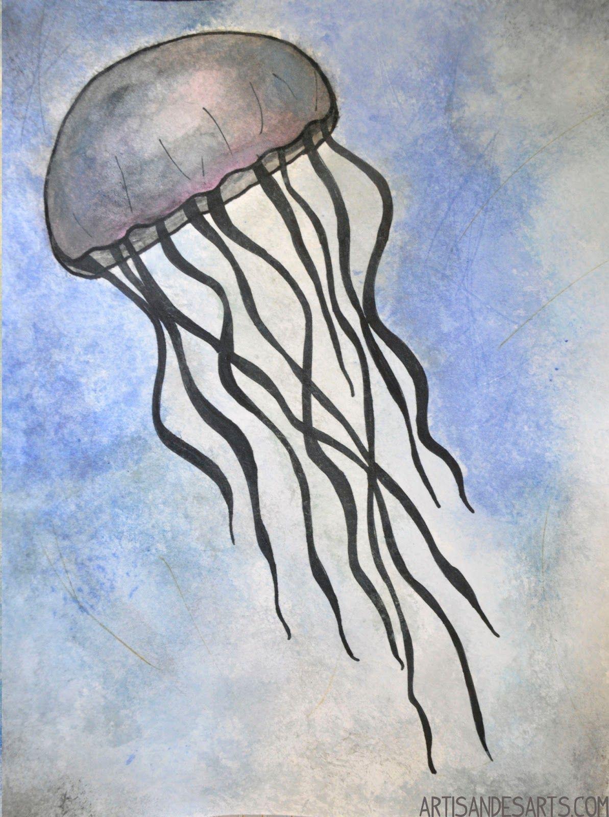 Jellyfish pencil drawing photo7