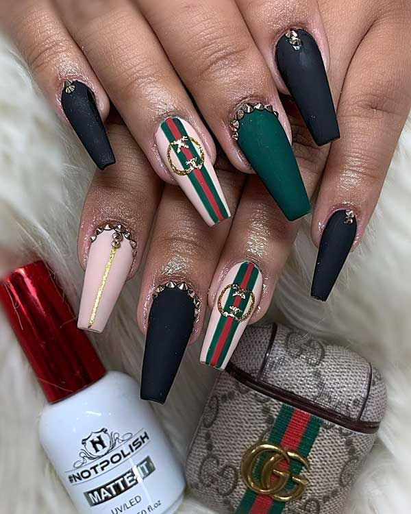 120 Best Coffin Nails Ideas That Suit Everyone Gucci Nails Ballerina Acrylic Nails Coffin Nails Designs