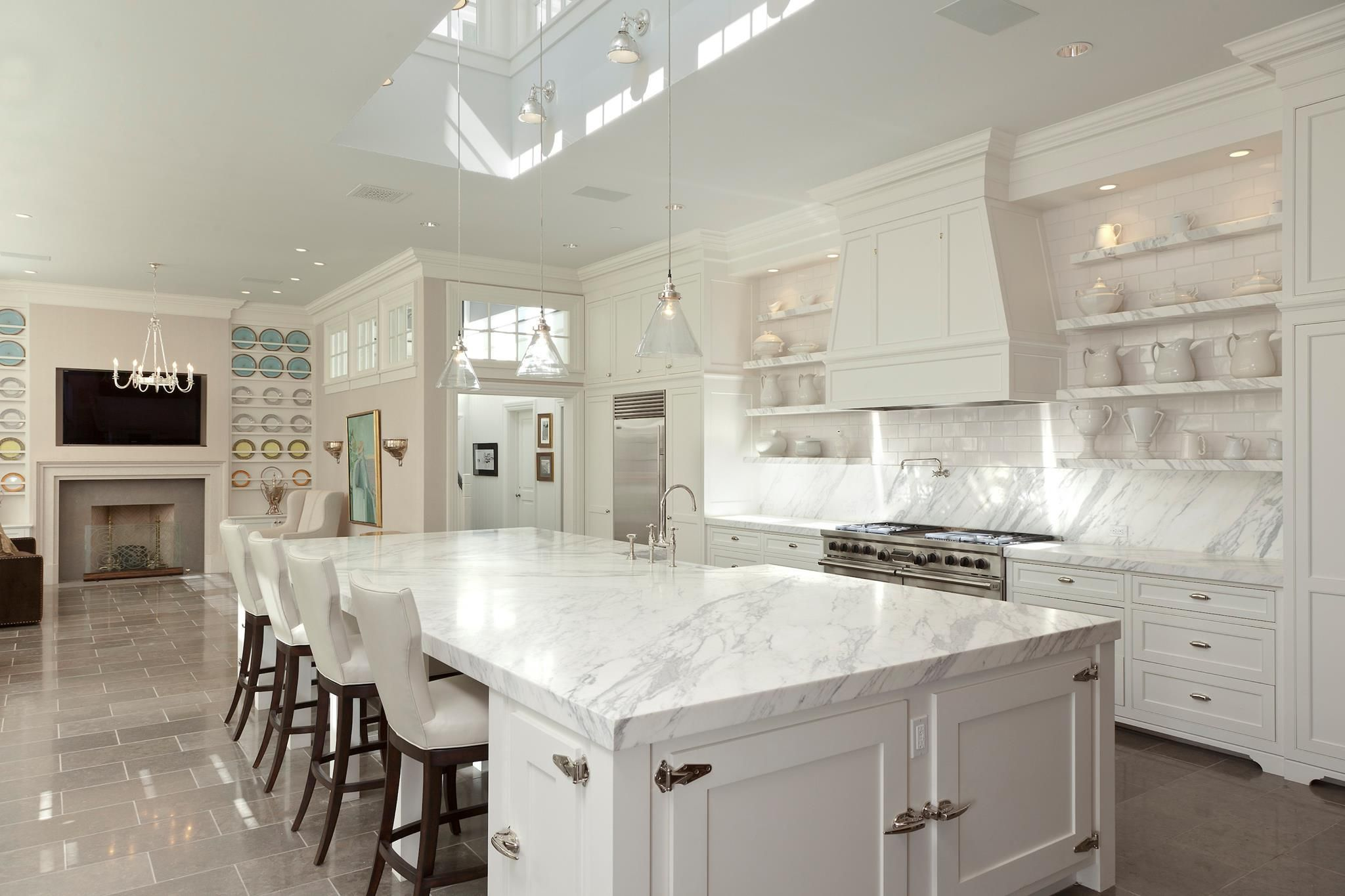 Kitchen Ideas White Cabinets Open Floor Plan Bookcases Plate