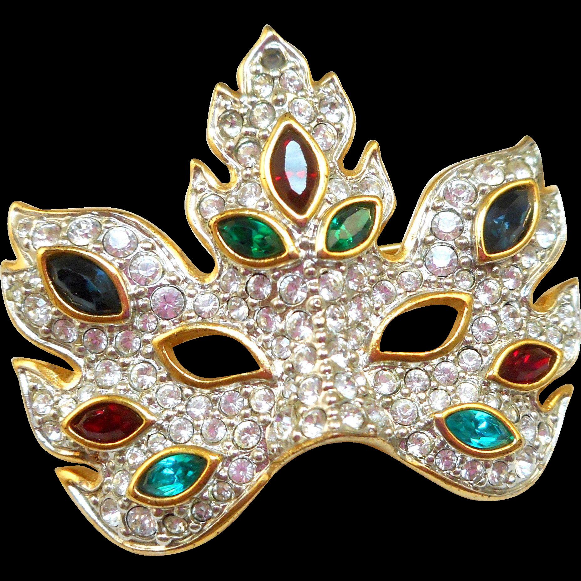 #Vintagebeginshere www,rubylane.comSwarovski Mask Pins