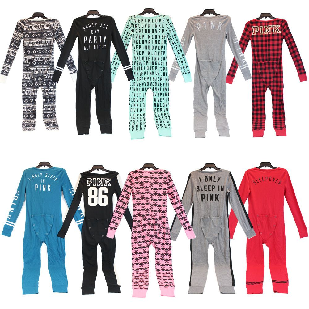384c15f107c5f Details about Victoria's Secret Pink GIMME SUGAR Thermal Pajamas ...