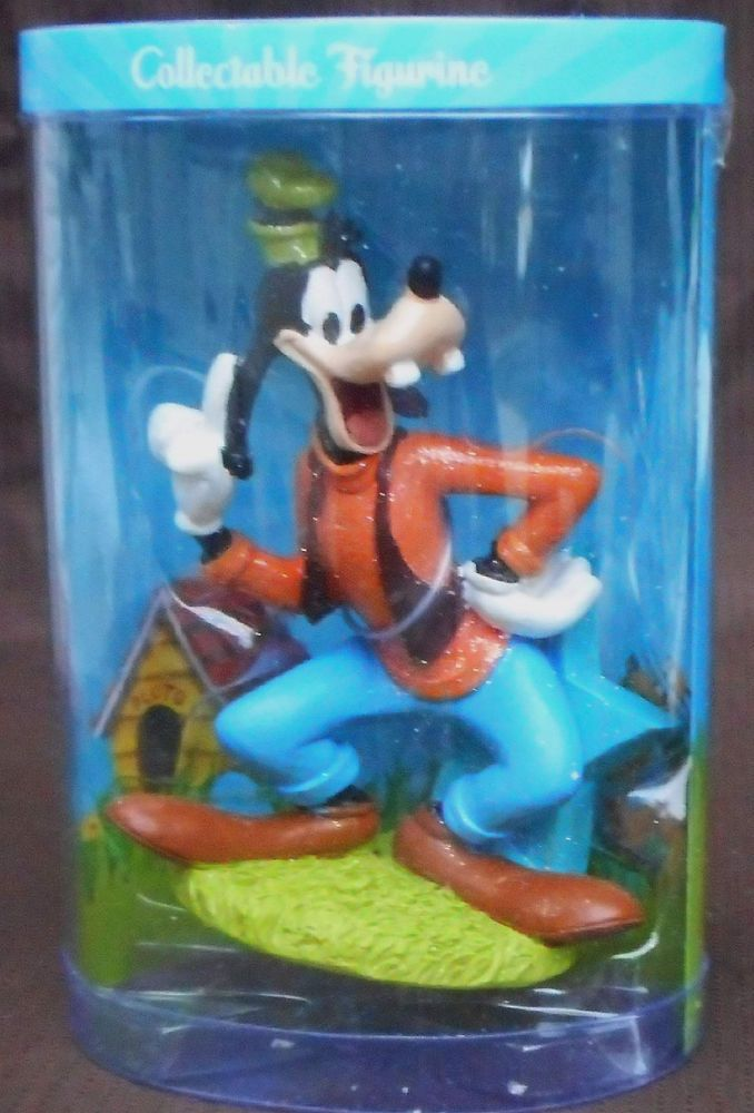 "Goofy Disney Collectible Figurine KCare New in Package 5"" Tall 4"" Wide Dog"