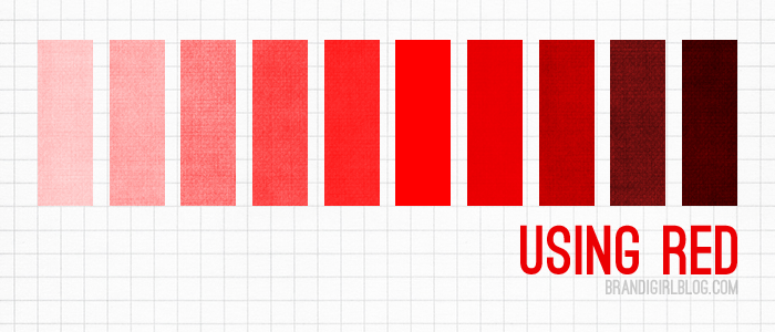 Different Shades Of Red using red. more excellent graphics and how-to at the link. | art