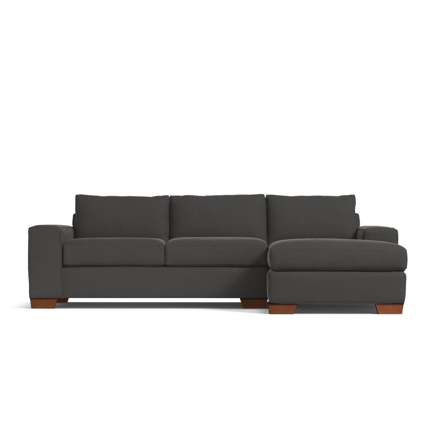 The melrose 2 piece sleeper sectional sofa features a bold contemporary look with wide track arms a low rise design and a full size sleeper sofa bed