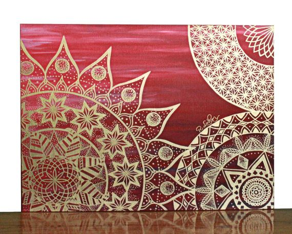 Check out this item in my Etsy shop https://www.etsy.com/listing/265147435/mandala-wall-art-red-mandala-painting