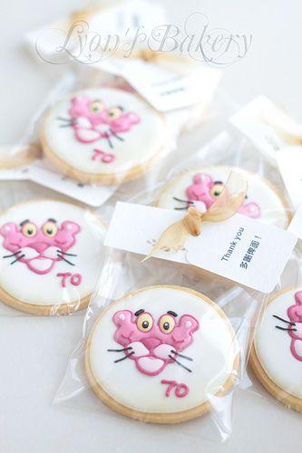 Pink Panther Character Themed Cookies En 2019 Cumpleaños