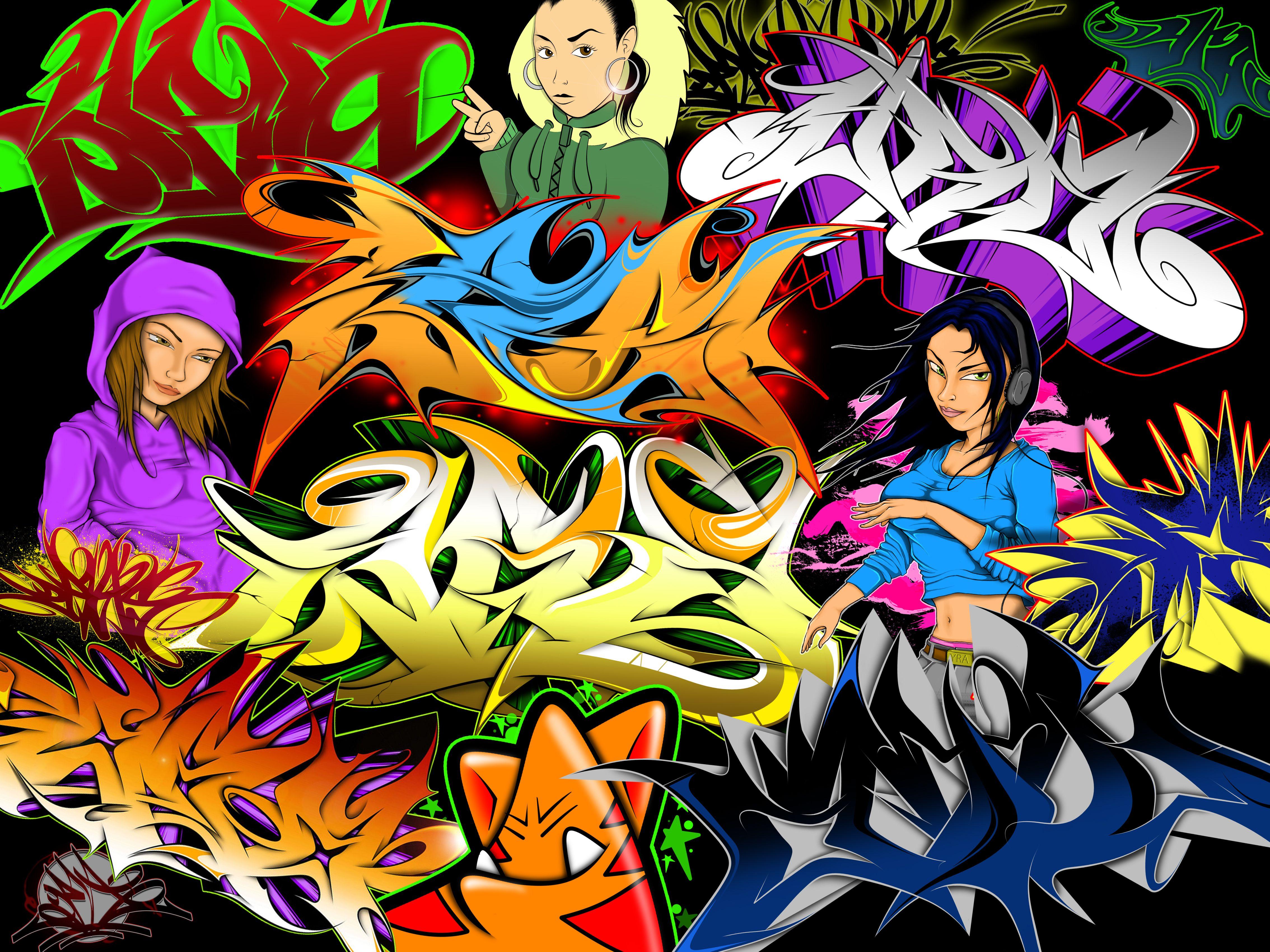 Download Colorful Graffiti Art Street Wall Painting