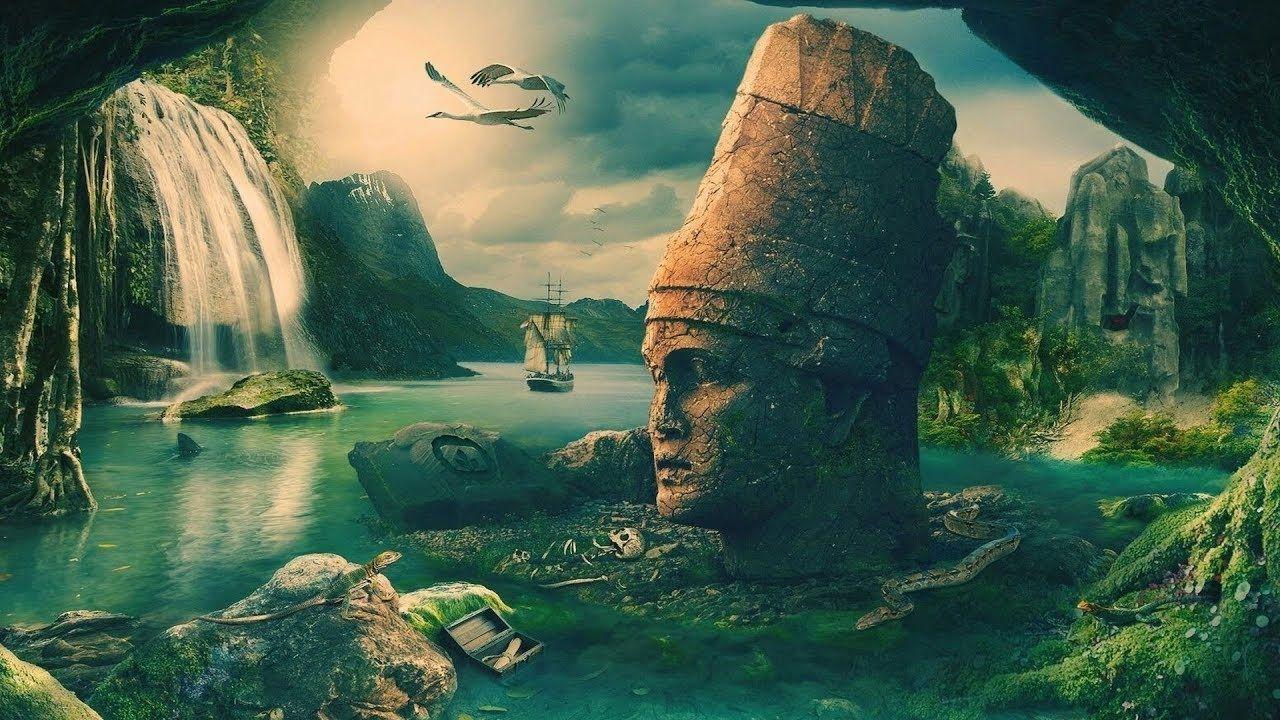 Ancient Egyptians Are Descendants Of Atlantis Fantasy Art Landscapes Nature Wallpaper Creative Graphics