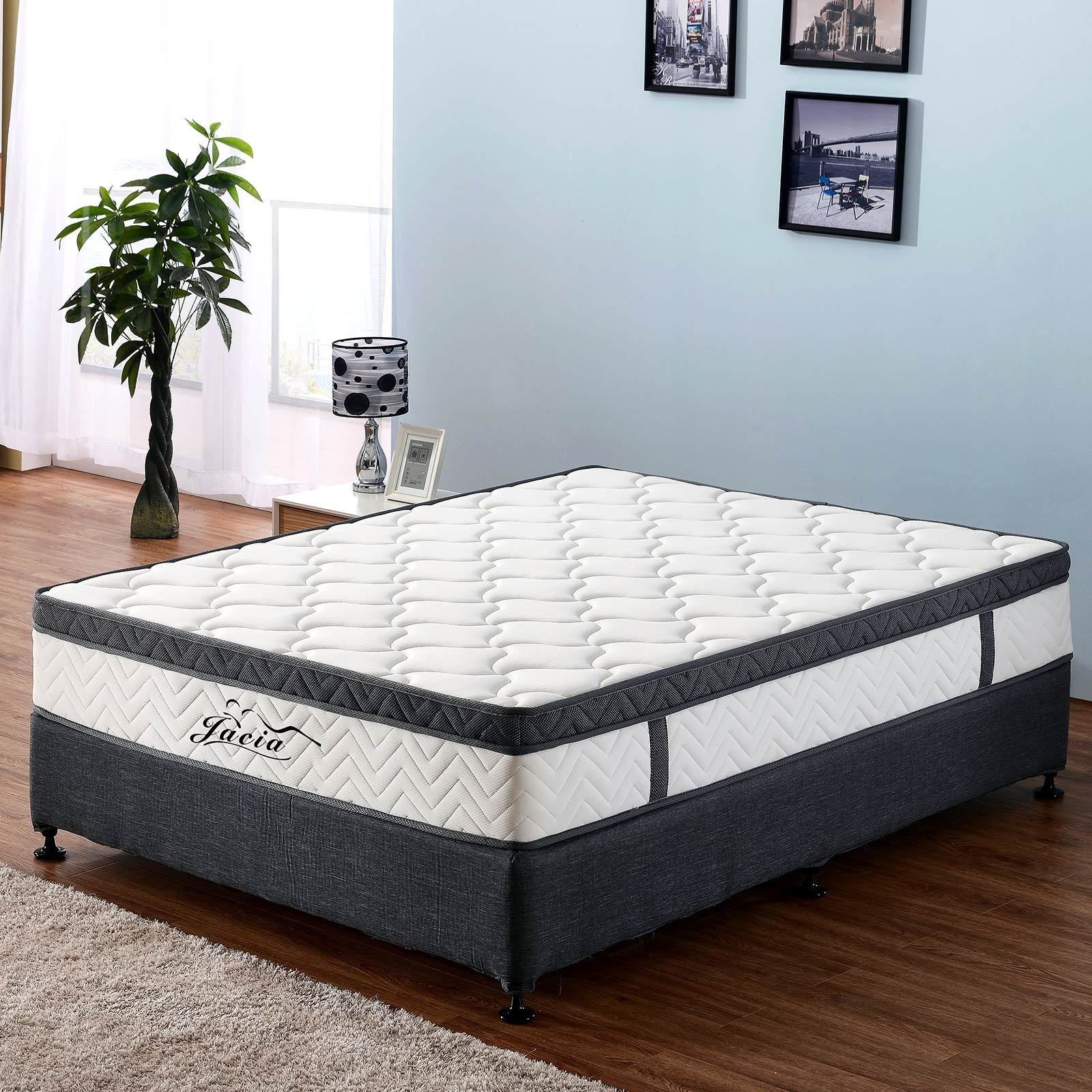 Premium Memory Foam Mattress Euro Top 29cm Thickness 7 Zone Pocket