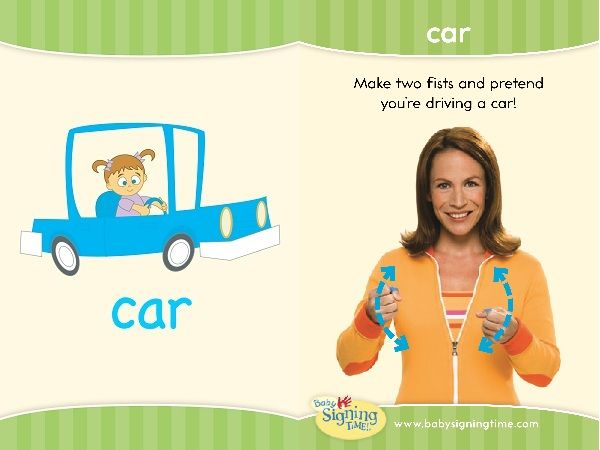 Learn Sign Language  Sign Of The Week  Car Babys Signs - Car sign language