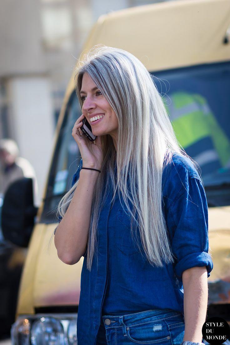 Long Grey Hair Can Rock At Any Age Sarah Harris