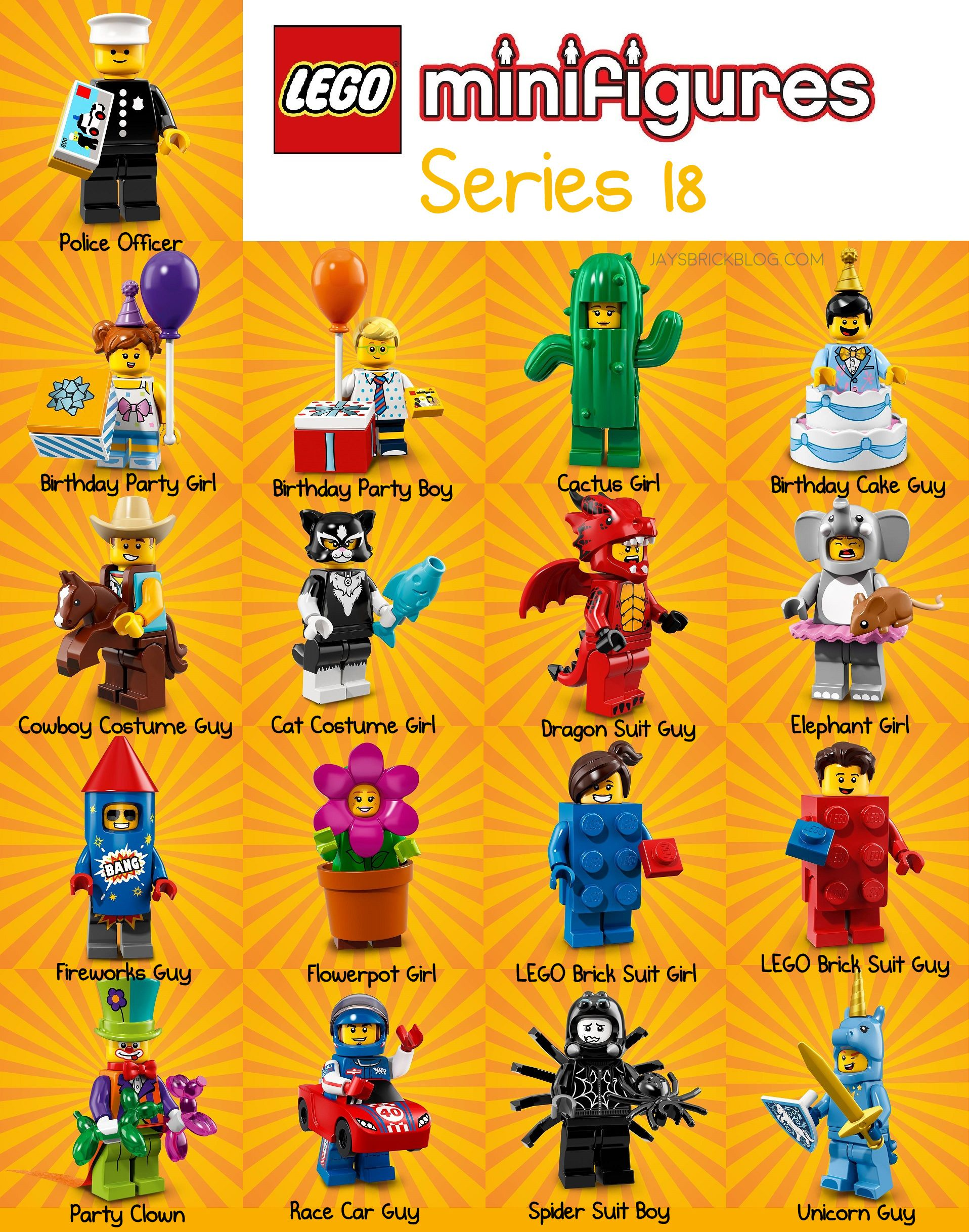 New Lego 71021 Minifigures Party Series 18 PICK YOUR MINIFIGURES **READ**