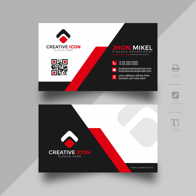 Abstract Business Card Template Graphic Design Business Card Business Cards Mockup Psd Business Card Template