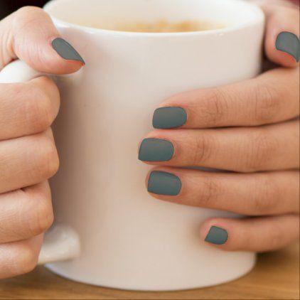 sage green trendy solid color minx nail art  zazzle