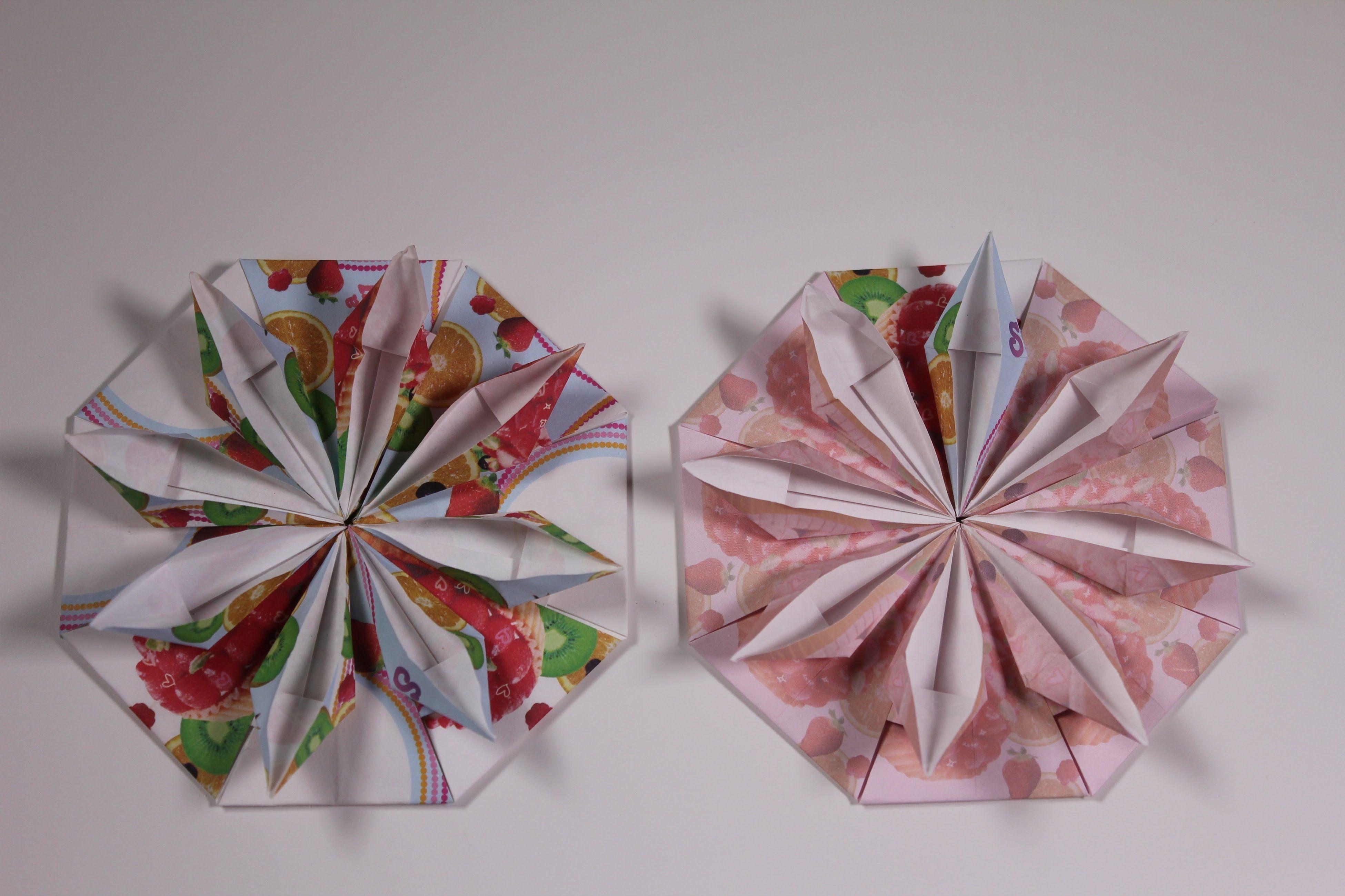 Origami Flower Coaster Mandalas Estrelas Guirlandas E Snowflake
