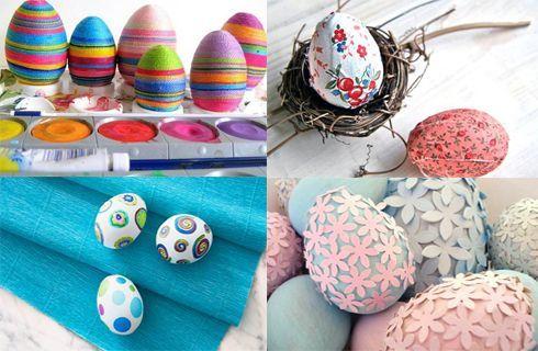 Come decorare le uova di polistirolo per Pasqua