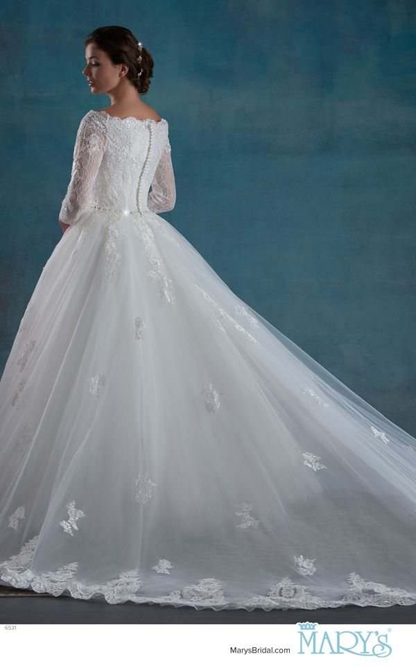 Mary 39 s bridal style 6531 a bridal ball gown with re for Tulle skirt under wedding dress