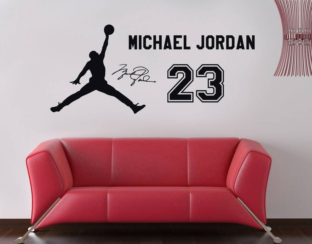 Elegant MICHAEL JORDAN 23 Decal WALL STICKER Art Home Decor Basketball Sports ST41 Part 23