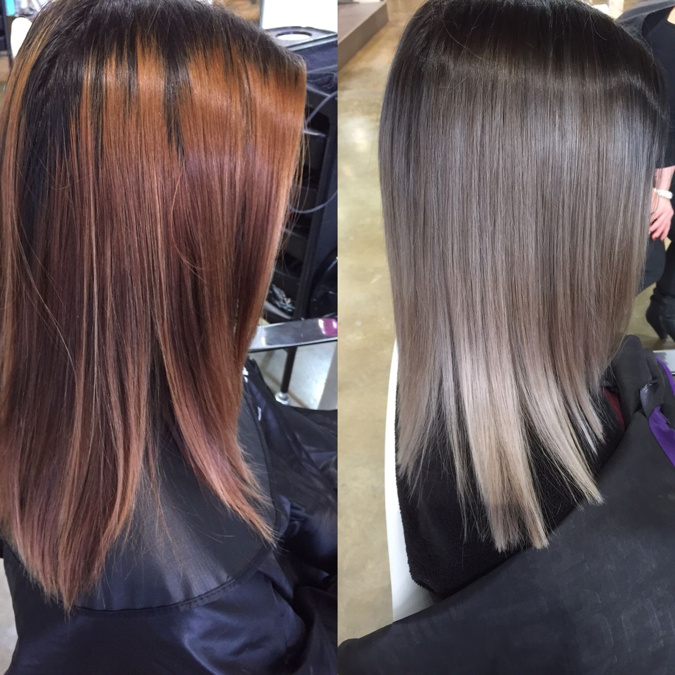 Ash blonde dark roots ash ends … | Brown hair colors, Ashy ...