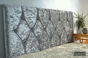 Details About Crushed Velvet Diamond Headboard 26 Diamante