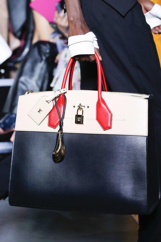 Louis Vuitton Black White Red Steamer Tote Bag - Spring 2016 ... 6b6b5647b6a00