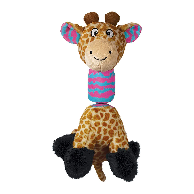 Kong Rsg12 Stretchezz Tugga Giraffe Dog Toy Large Very Nice Of