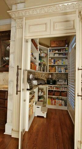 Walk in hidden pantry