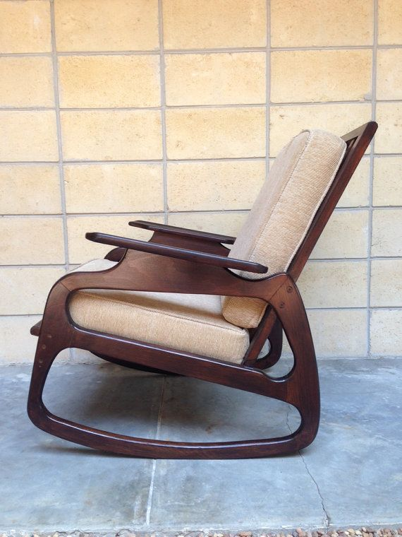 adrian pearsall rocking chair yellow wheelchair rocker mid century danish modern style