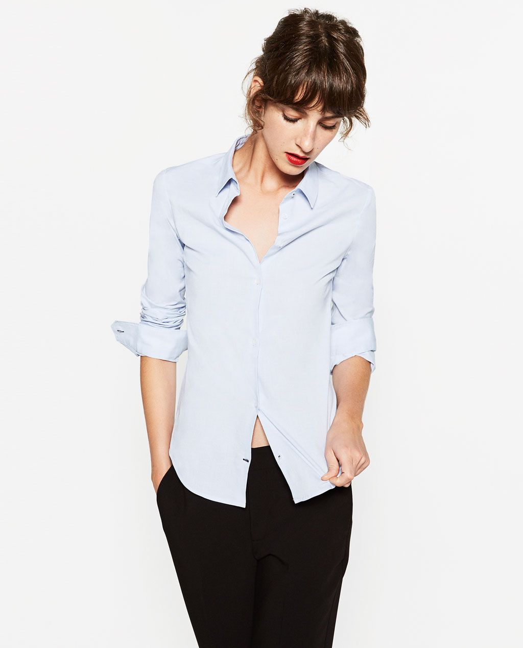 Basic Woman Shirt Style Poplin Zara Pinterest TaBHqB