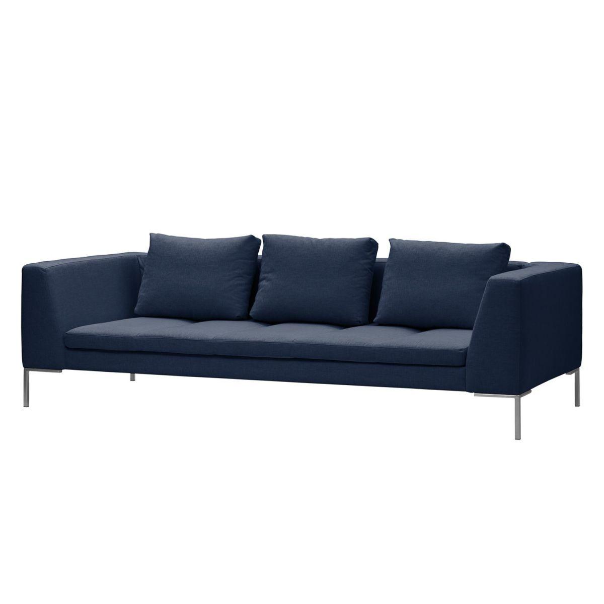 Sofa Madison (3-Sitzer) Webstoff - Stoff Milan Dunkelblau, Studio ...