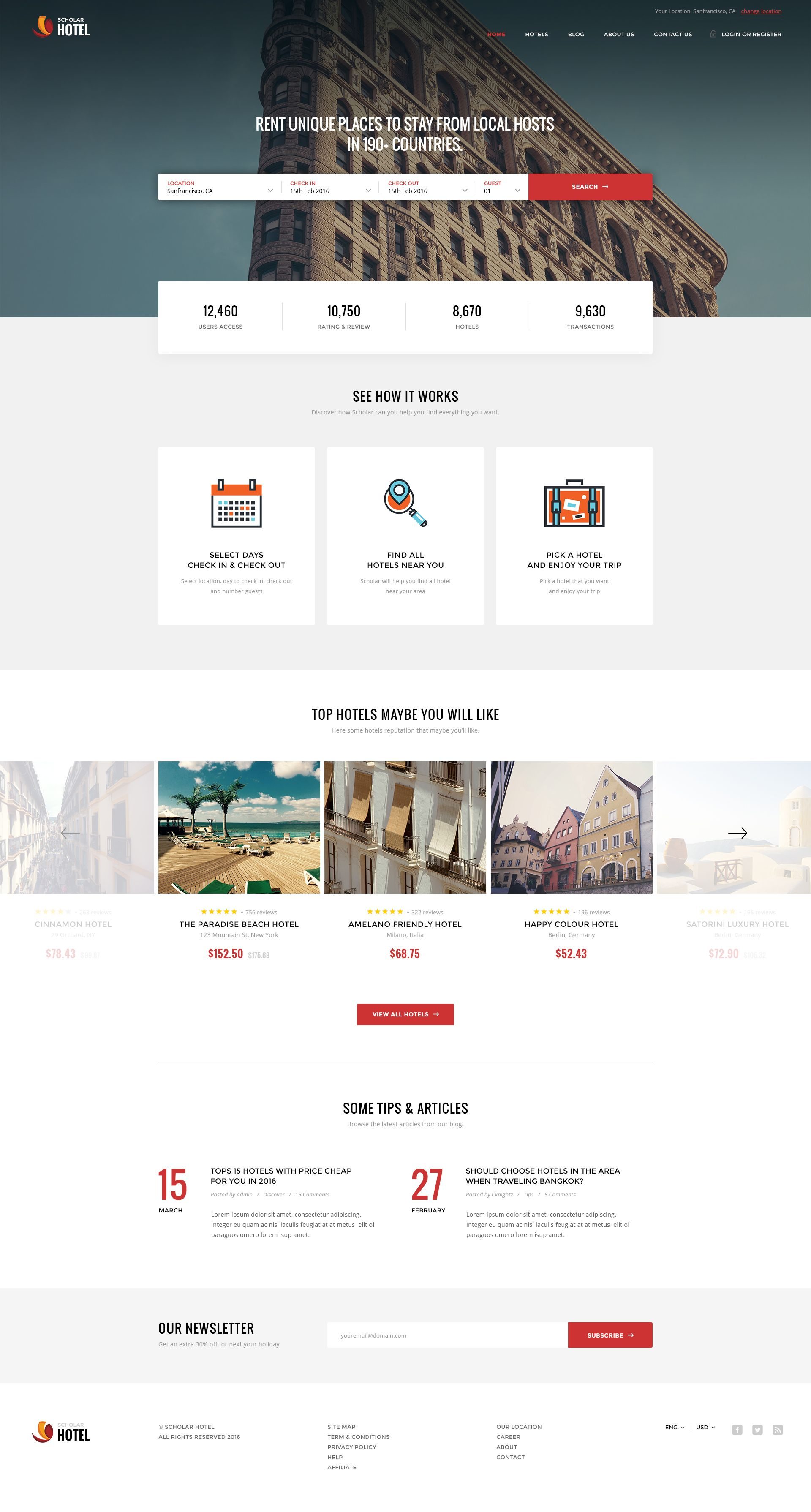 Scholar Directory Multipurpose Psd Template Preview Themeforest Hotel Website Design Travel Website Design Website Design Layout