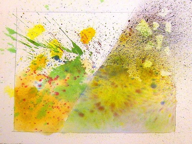 Fun Watercolor Techniques For Splattering Spraying Paint
