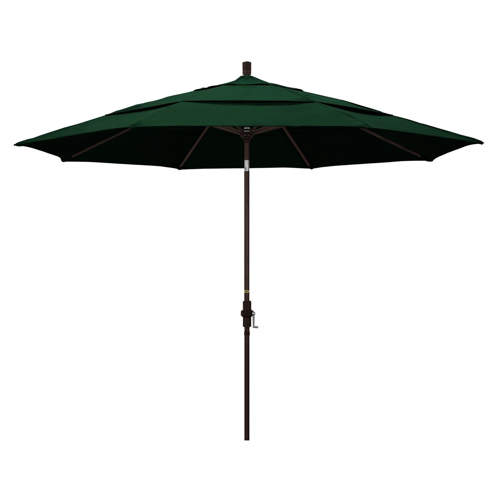 California Umbrella 11 Ft Aluminum Sunbrella Market Umbrella Forest Green California Umbrella Patio Umbrella Market Umbrella