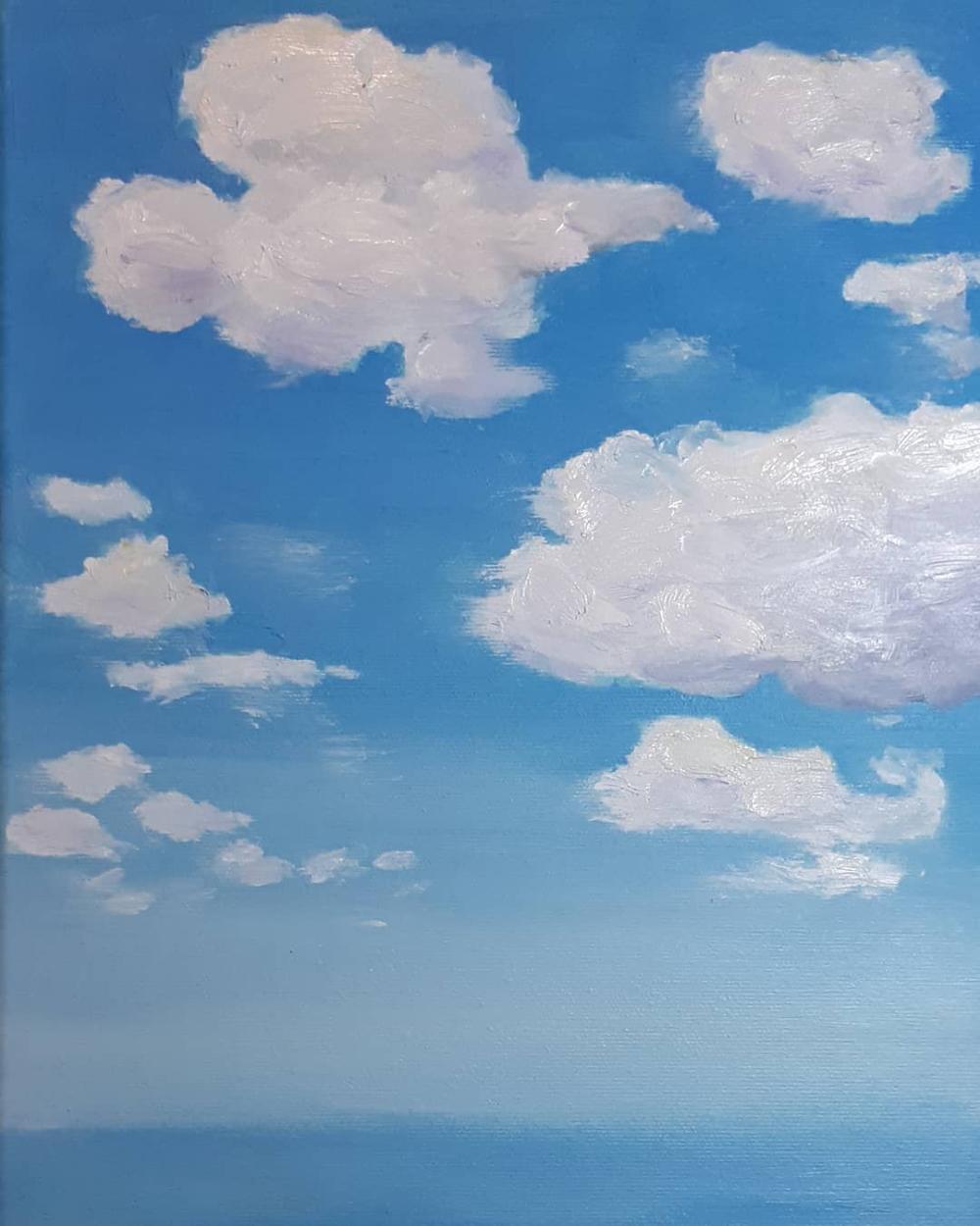 Berraquero sur Instagram: Ejercicio práctico para aprender a pintar cúmulos. Me queda mucho por practicar 😁. #art #arte #artist #instaart #artoftheday #artstudio…