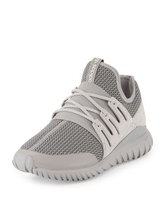 huge selection of b1bdb e70bb Tubular+Radial+Trainer+Sneaker,+Gray+by+Adidas+at+Neiman+Marcus.