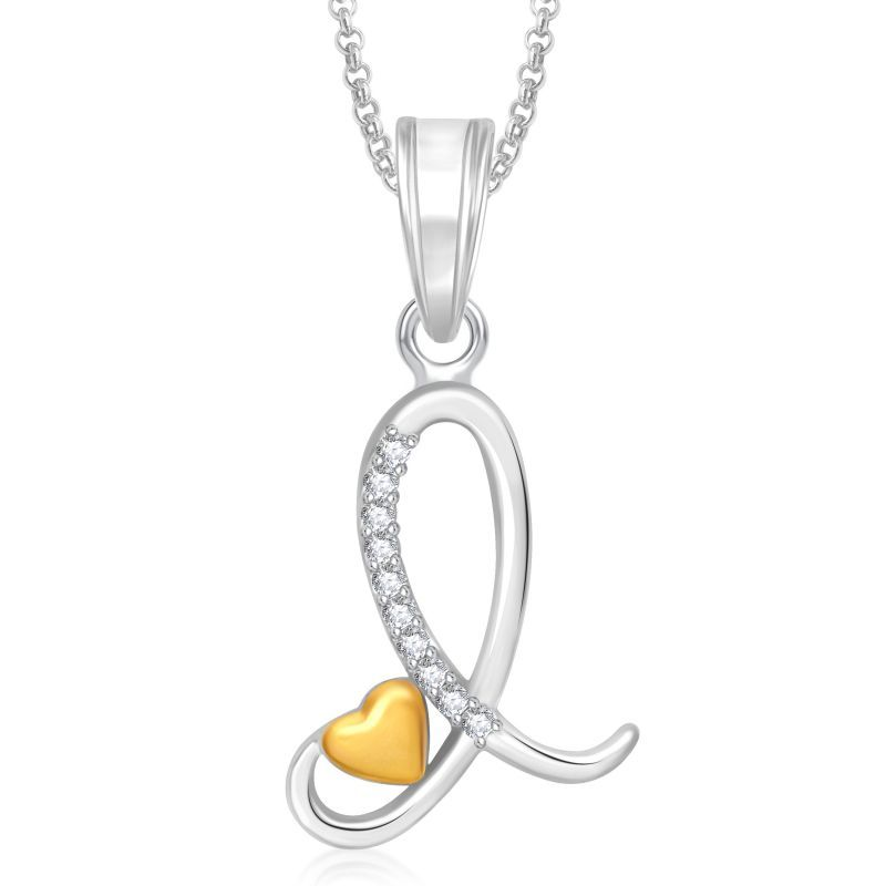 Jewels Obsession 50/% Italian Necklace 14K Yellow Gold-plated 925 Silver 50/% Italian Pendant with 16 Necklace