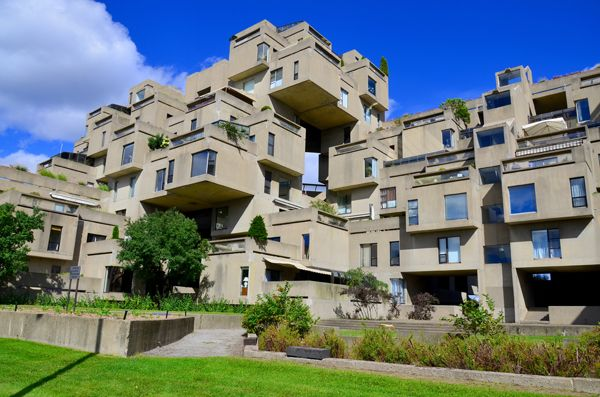 #UnusualBuildings - Habitat 67- Montreal, #Canada. Habitat 67 is a one-of-a-kind housing complex located in Montreal, Quebec, Canada. Built for Montreal's 1967 World's Fair, Expo 67, it was originally conceived by architect Moshe Safdie's to be an ideal living community for the future.