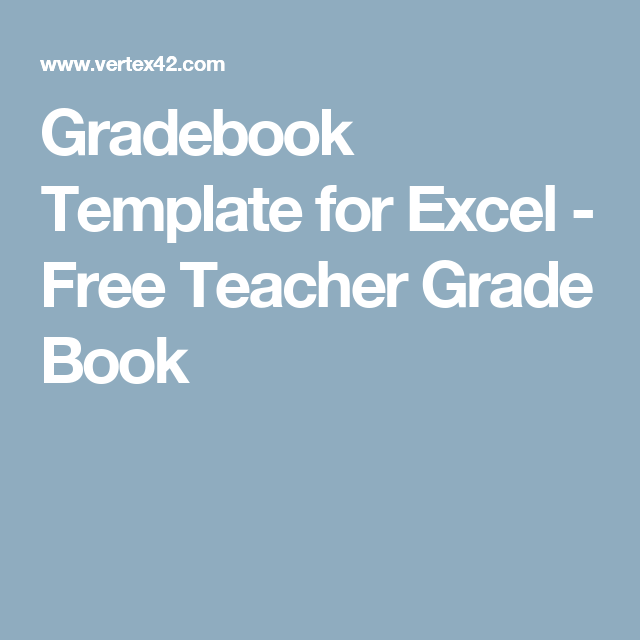 gradebook template for excel free teacher grade book